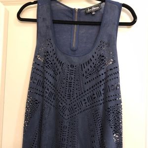 Sam Edelman perforated faux suede tunic. Size S